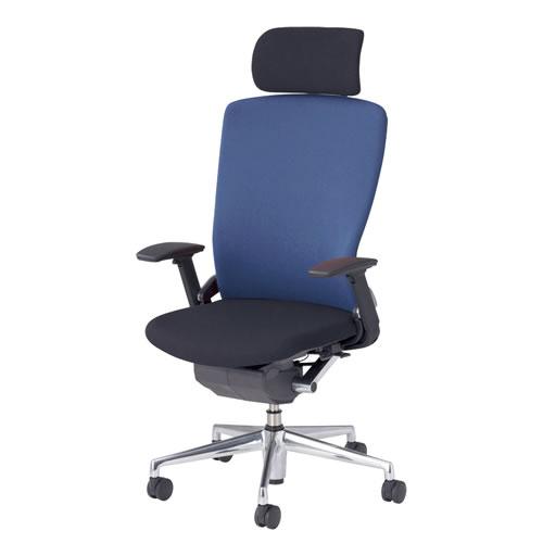 内田洋行 オフィスチェア 事務用チェア 事務椅子 パルス チェア ヘッドレスト付クロスバック アジャスタブル肘 背樹脂カバータイプ PA2-520C