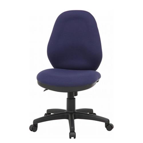 オフィスチェア 事務椅子 体圧分散チェアー 肘なし BL ブルー FB-42243