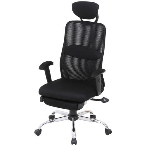 デスクチェア パソコンチェア オフィスチェア 事務椅子 事務用イス 椅子 メッシュ バックチェアー スリープBLACK ブラック FB-50378