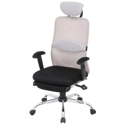 オフィスチェア 事務椅子 椅子 メッシュ バックチェアー スリープGRAY グレー FB-50379