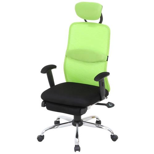 デスクチェア パソコンチェア オフィスチェア 事務椅子 事務用イス 椅子 メッシュ バックチェアー スリープGREEN グリーン FB-50380