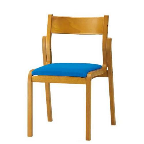 【個人宅配送不可】TOKIO 木製チェア 4脚セット 肘無 布張り ダイニングチェア スタッキングチェア 椅子 FKB-4-SET