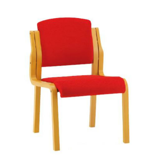 お買い物マラソン期間中ポイント10倍 【個人宅配送不可】TOKIO 木製チェア 4脚セット 肘無 布張り ダイニングチェア スタッキングチェア 椅子 FKS-4-SET