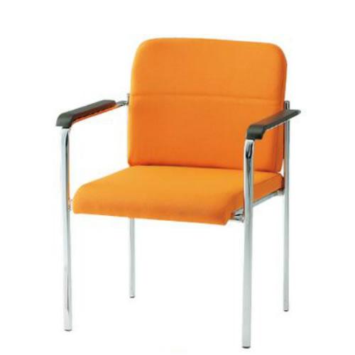 TOKIO ミーティングチェア 椅子 会議用チェア 4本脚タイプ 肘付 布張り 4脚セット FMN-4A-SET