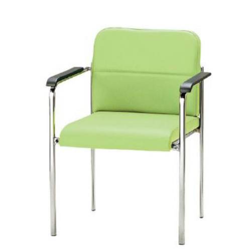 TOKIO ミーティングチェア 椅子 会議用チェア 4本脚タイプ 肘付 ビニールレザー張り 4脚セット FMN-4AL-SET