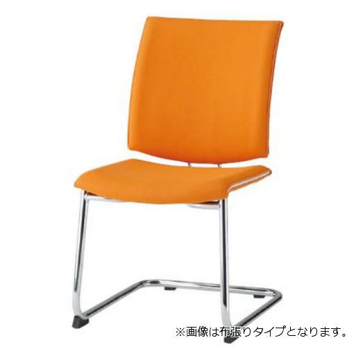 TOKIO ミーティングチェア 椅子 会議チェア C脚タイプ 肘なし ビニールレザー張り FMP-2L