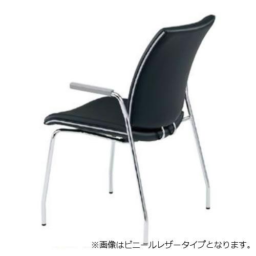 【個人宅配送不可】TOKIO ミーティングチェア 椅子 会議チェア 4本脚タイプ 肘付 布張り FMP-4A