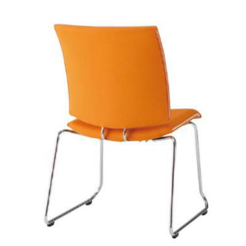 【個人宅配送不可】TOKIO ミーティングチェア 椅子 会議チェア ループ脚タイプ 肘なし 布張り FMP-R2