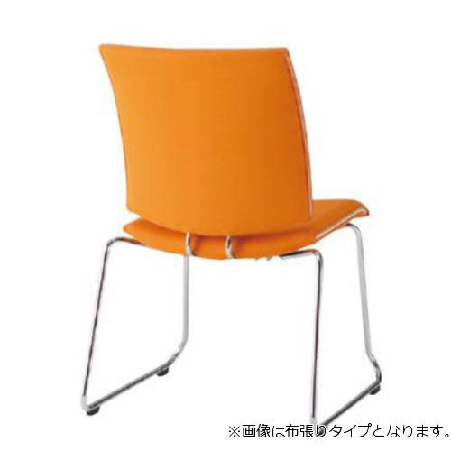 【個人宅配送不可】TOKIO ミーティングチェア 椅子 会議チェア ループ脚タイプ 肘なし ビニールレザー張り FMP-R2L