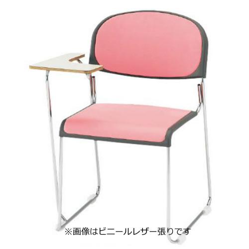 お買い物マラソン期間中ポイント10倍 【個人宅配送不可】TOKIO 4脚セット 会議椅子 ミーティングチェア メッキ脚テーブル付 布張り FNM-10T-SET