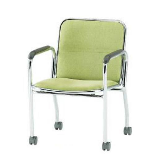 【個人宅配送不可】TOKIO ミーティングチェア 椅子 会議チェア キャスター脚タイプ 肘付 布張り FSB-K4A