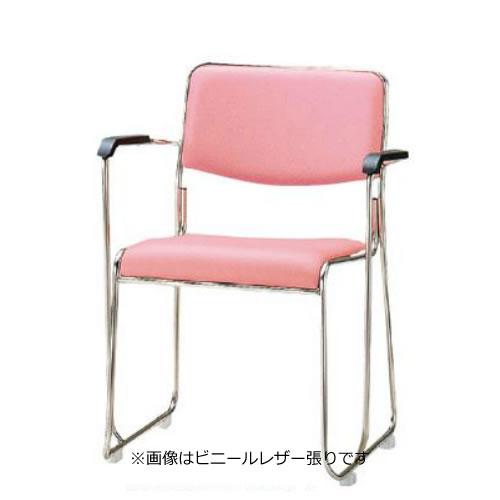 TOKIO 会議椅子 4脚セット ミーティングチェア ステンレス脚 肘付 布張り FSC-15SA-SET