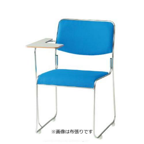お買い物マラソン期間中ポイント10倍 【個人宅配送不可】TOKIO 会議椅子 4脚セット ミーティングチェア ステンレス脚テーブル付き ビニールレザー張り FSC-15STL-SET