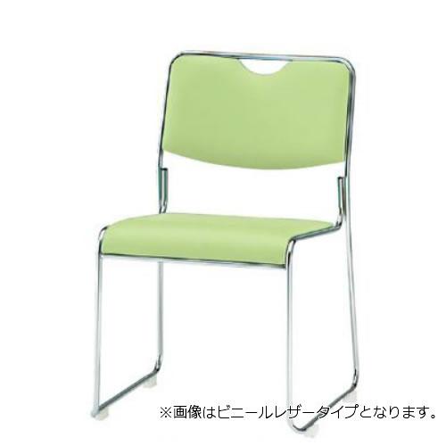 TOKIO 会議椅子 4脚セット ミーティングチェア メッキ脚 肘なし 布張り FSC-25M-SET
