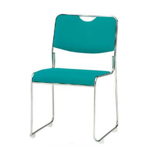 お買い物マラソン期間中ポイント10倍 【個人宅配送不可】TOKIO 会議椅子 4脚セット ミーティングチェア ステンレス脚 肘なし 布張り FSC-25S-SET