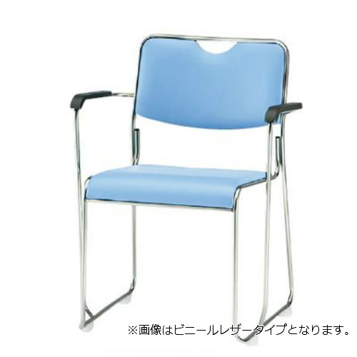 TOKIO 会議椅子 4脚セット ミーティングチェア 椅子 会議用イス 会議用チェア ステンレス脚 肘付 布張り FSC-25SA-SET