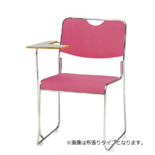 TOKIO 会議椅子 4脚セット ミーティングチェア ステンレス脚テーブル付 ビニールレザー張り FSC-25STL-SET