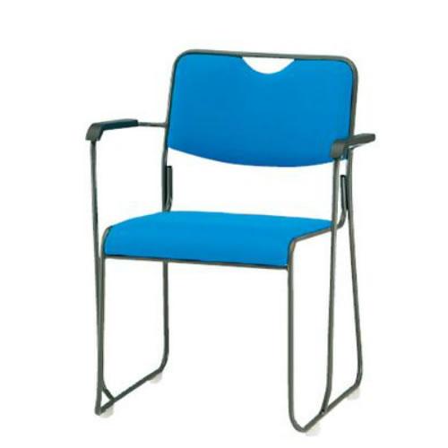 TOKIO 会議椅子 4脚セット ミーティングチェア 塗装脚 肘付 布張り FSC-25TA-SET