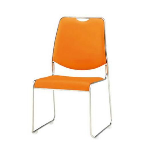 TOKIO 会議椅子 4脚セット ミーティングチェア スタッキングチェア ビニールレザー張り FSC-45L-SET