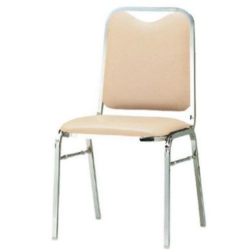 TOKIO 会議用 椅子 4脚セット スタッキングチェア ミーティングチェア 食堂用チェア ビニールレザー張り FSK-25L-SET