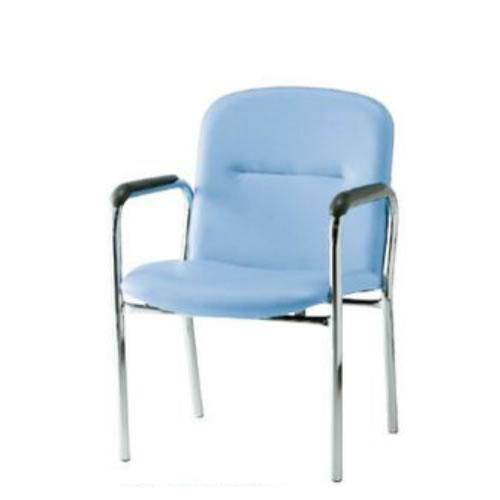 TOKIO ミーティングチェア 椅子 会議チェア 4本脚タイプ 肘付 ビニールレザー張り FSQ-4AL
