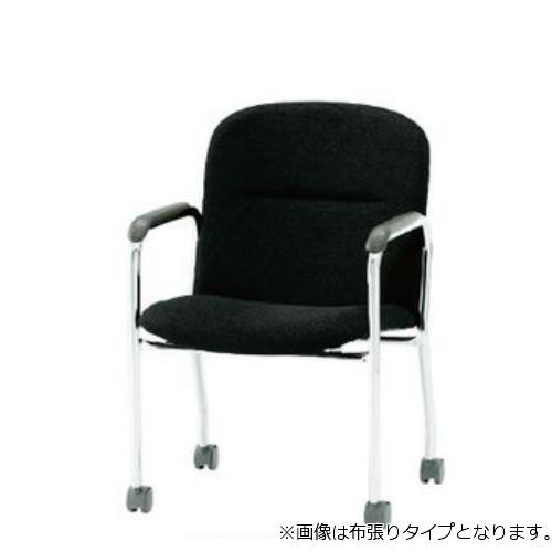 【個人宅配送不可】TOKIO ミーティングチェア 椅子 会議チェア キャスター脚タイプ 肘付 ビニールレザー張り FSQ-K4AL