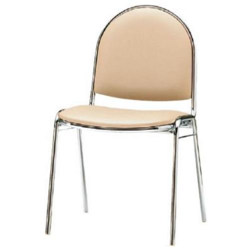 【個人宅配送不可】TOKIO 会議用 椅子 4脚セット スタッキングチェア ミーティングチェア 食堂用チェア ビニールレザー張り FSR-R4L-SET
