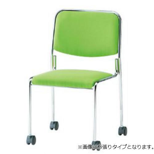 【個人宅配送不可】TOKIO ミーティングチェア 椅子 会議用チェア キャスター脚タイプ 肘なし ビニールレザー張り 4脚セット FSX-K4L-SET