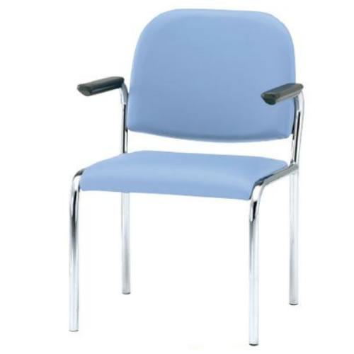 【個人宅配送不可】TOKIO ミーティングチェア 椅子 会議チェア 4本脚タイプ 肘付 ビニールレザー張り 4脚セット FSZ-4AL-SET