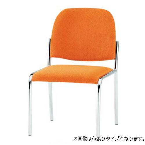 TOKIO ミーティングチェア 椅子 会議チェア 4本脚タイプ 肘なし ビニールレザー張り 4脚セット FSZ-4L-SET