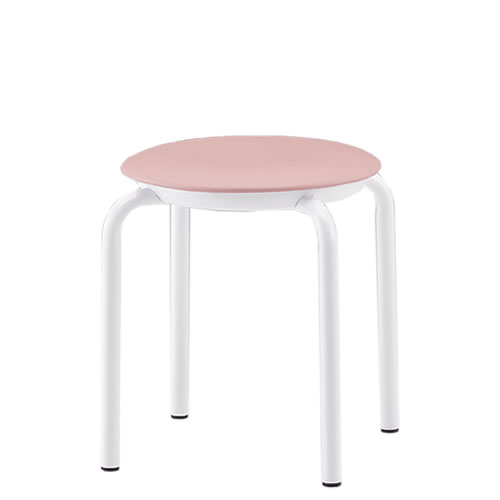 【個人宅配送不可】TOKIO 丸椅子 スツール 5脚セット ビニールレザー張り 固定脚 JBM-36T-SET