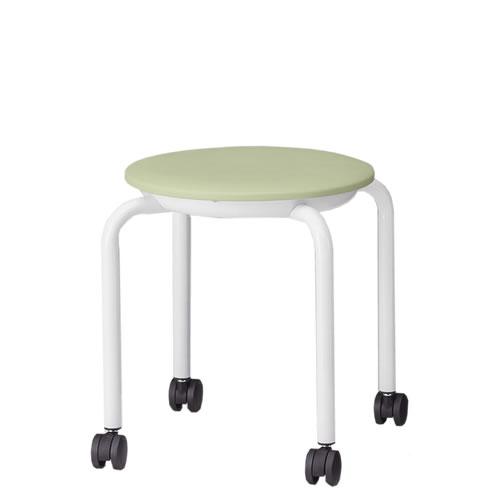 【個人宅配送不可】TOKIO 丸椅子 スツール 5脚セット ビニールレザー張り キャスター脚 JBM-C36T-SET