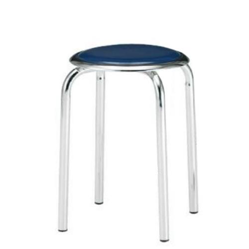 【個人宅配送不可】TOKIO 丸椅子 スツール 10脚セット メッキ脚タイプ ビニールシート張り M-24M-SET