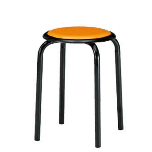 【個人宅配送不可】TOKIO 丸椅子 スツール 10脚セット 塗装脚タイプ ビニールシート張り M-24T-SET