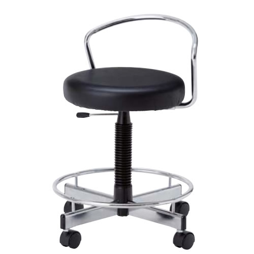 高作業用チェアー 作業用チェア 作業椅子 作業用椅子 ガス上下調節 背付モールドウレタン座 高作業用チェア キャスター付CA-316L