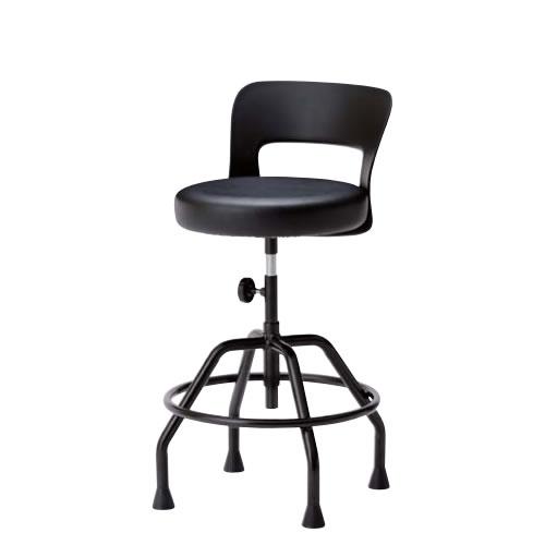 高作業用チェアー 作業用チェア 作業椅子 作業用椅子 手動上下調節 モールドウレタン座 高作業用チェア 固定脚CA-KT6