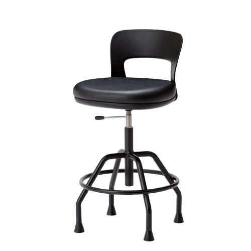 高作業用チェアー 作業用チェア 作業椅子 作業用椅子 ガス上下調節 ワイドクッション座 高作業用チェア 固定脚CAW-KT6L