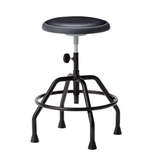高作業用チェアー 作業用チェア 作業椅子 作業用椅子 手動上下調節 ブロー成型パッド付座 高作業用チェア 固定脚TG-KT360