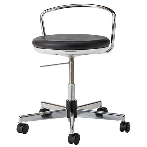 導電チェア 導電チェアー 作業用チェア 作業チェア 作業用椅子 ガス上下調節 キャスター付 TMS型チェア 背パイプ付 TSM-EH214L