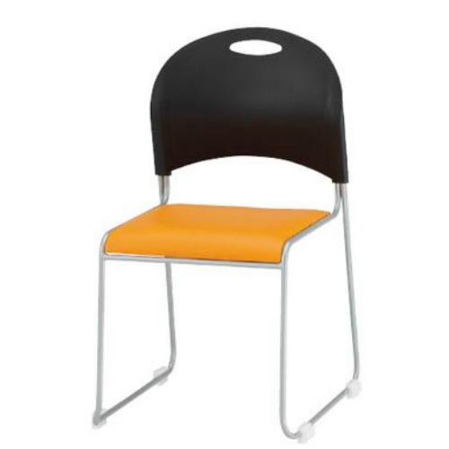 TOKIO 4脚セット 会議椅子 ミーティングチェア 背シェル ブラック NSC-20L-SET