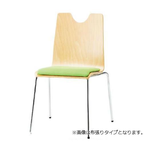 TOKIO スタッキングチェア 4脚セット ミーティングチェア リフレッシュチェア 4本脚 肘なし ビニールレザー張り RMH-4L-SET