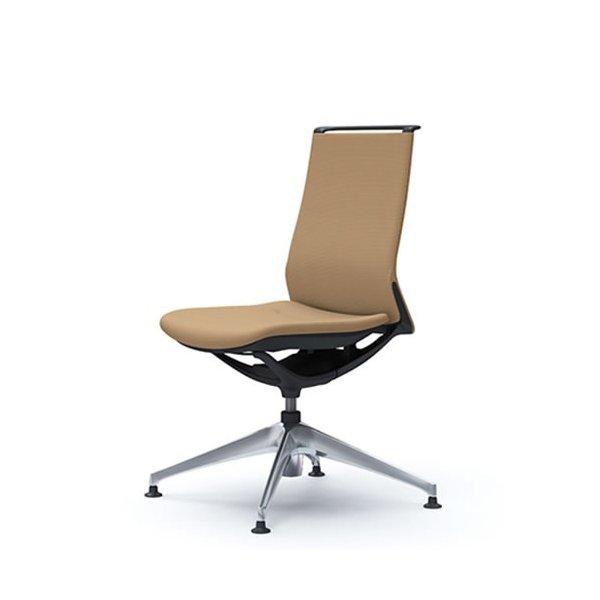 オカムラ モード チェア オフィス 4本脚オートリターンタイプ ミドルバック 樹脂フレーム 本体カラーブラック 肘なし 布張り プレーンCA15FR-FS