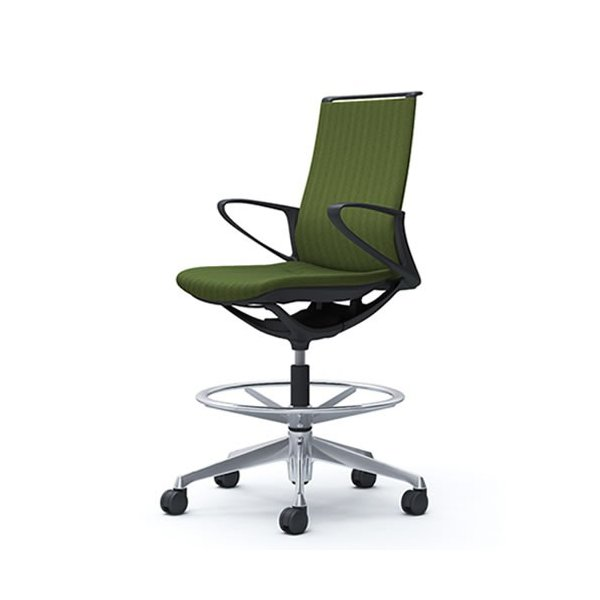 オカムラ モード チェア オフィス ハイチェア ミドルバック 樹脂フレーム 本体カラーブラック 肘なし 布張り ヘリンボーンCA15HR-