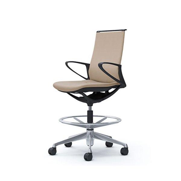 オカムラ モード チェア オフィス ハイチェア ミドルバック 樹脂フレーム 本体カラーブラック 肘なし 布張り ミックスCA15HR