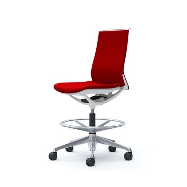 オカムラ モード チェア オフィス ハイチェア ミドルバック 樹脂フレーム 本体カラーホワイト 肘なし 布張り プレーンCA15HW-FS