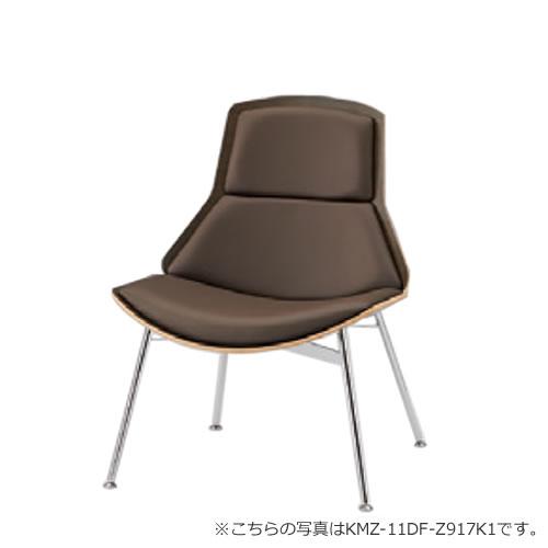 イトーキ MZラウンジ チェア クロームメッキフレーム 布張り 突板タイプ KMZ-11C-Z917