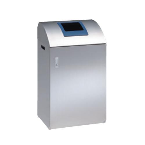 オカムラ L939 業務用 ごみ箱 分別 ペール ゴミ箱 ダストボックス 屋内 オフィス 学校 事務所 リサイクルボックス ステンレス燃えないゴミ用(45L) 分別 シールF付 L939RB-ZC34