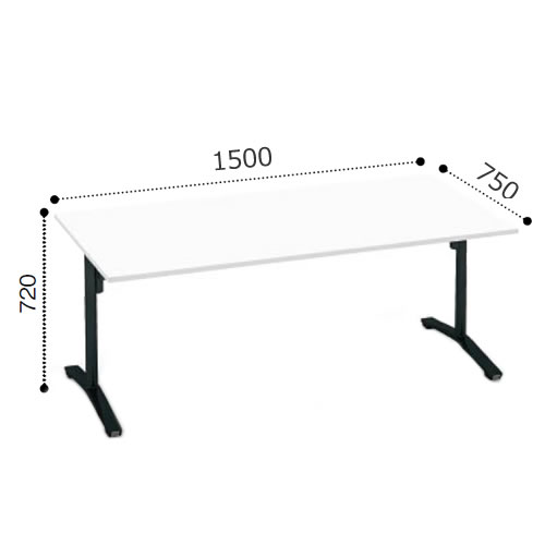コクヨ VIENAビエナ シリーズ会議 ミーティング テーブル フラップT字脚キャスタータイプ 角形天板 塗装脚 幅1500奥行750ミリ MT-V157F
