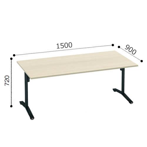 コクヨ VIENAビエナ シリーズ会議 ミーティング テーブル 天板固定T字脚キャスタータイプ 角形天板 塗装脚 配線ボックスなし 幅1500奥行900ミリ MT-V159-C