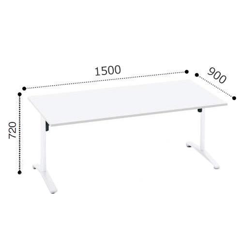 コクヨ VIENAビエナ シリーズ会議 ミーティング テーブル 天板固定T字脚アジャスタータイプ 角形天板 塗装脚 配線ボックスなし 幅1500奥行900ミリ MT-V159-E